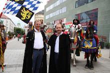 Stelzer und Baier am Ritterfest