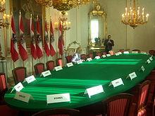Tisch des Ministerrats