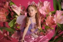 Mächen als Prinzessin verkleidet