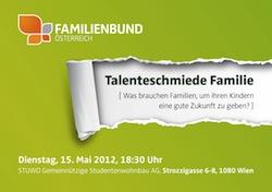 Einladung Talenteschmiede Familie