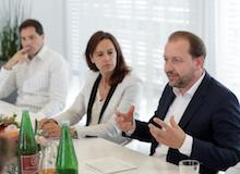 BM Sophie Karmasin und Bernhard Baier bei der Präsentation