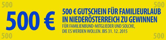 500 Euro Urlaubsgutschein zu gewinnen